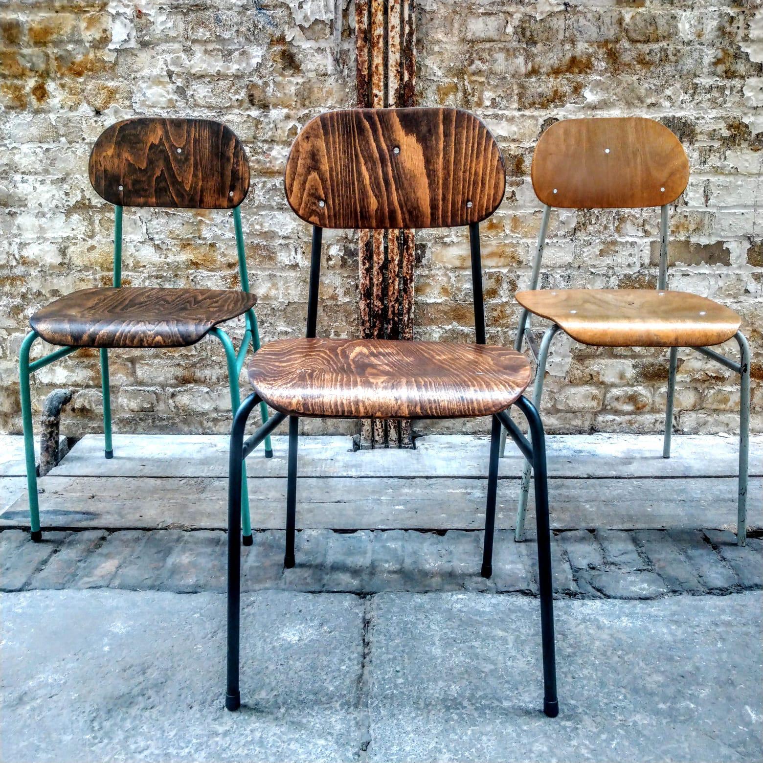 Czech school chair refurbished